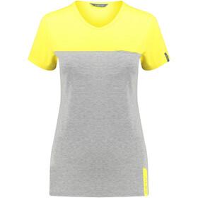 Meru Perama Naiset Lyhythihainen paita , keltainen/harmaa